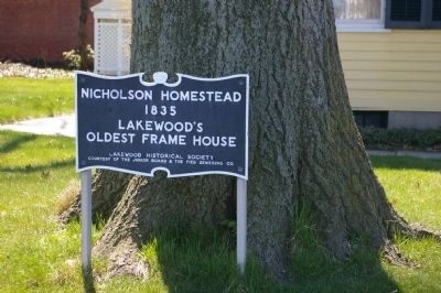Nicholson Homestead Marker image. Click for full size.