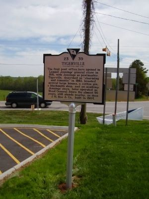 Tigerville Marker image. Click for full size.