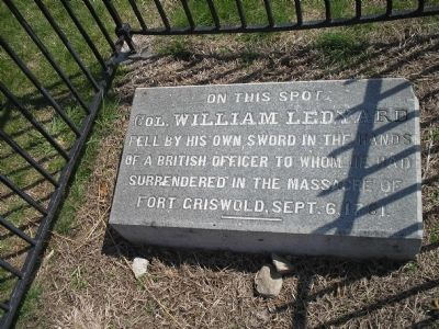 Col. William Ledyard Marker image. Click for full size.