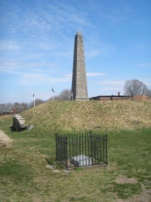Marker on Fort Griswold Battlefield image. Click for full size.