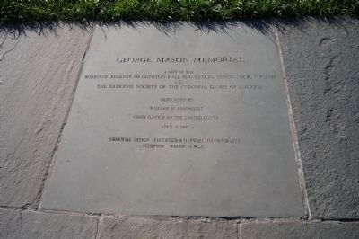 George Mason Memorial - a gift of Gunston Hall & the Colonial Dames of America image. Click for full size.