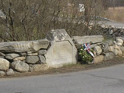 Marker on the Battle Road image. Click for full size.