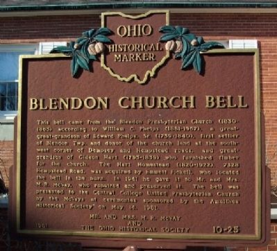 Blendon Church Bell Marker image. Click for full size.