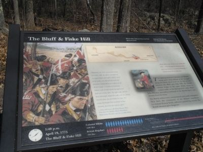 The Bluff & Fiske Hill Marker image. Click for full size.