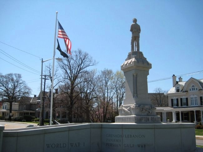 Back of Soldiers Monument image. Click for full size.