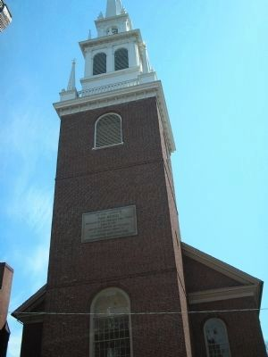 Marker at the Old North Church image. Click for full size.