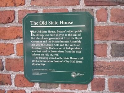 The Old State House Marker image. Click for full size.