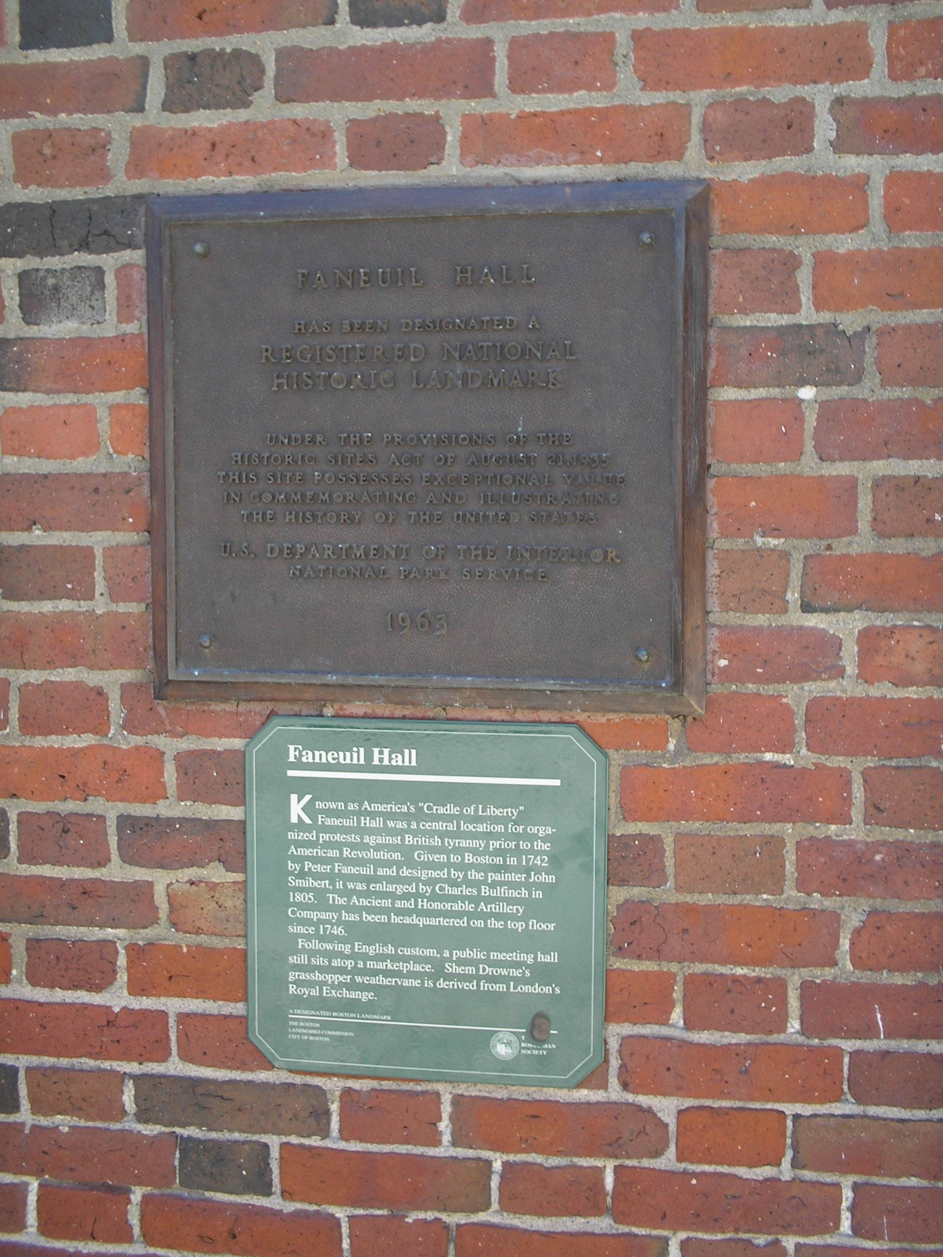 Faneuil Hall Markers