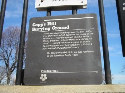 Copp's Hill Burying Ground Marker image. Click for full size.