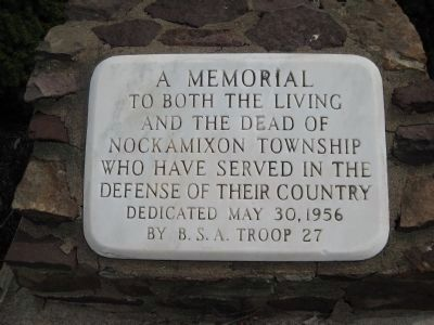 Memorial Plaque at Nockamixon Township Veterans Memorial Park image. Click for full size.