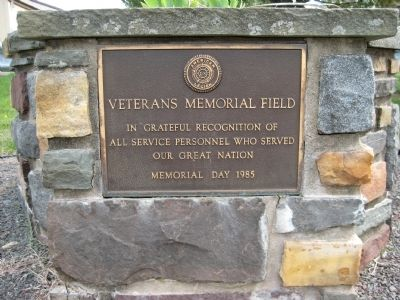 Plaque at Nockamixon Township Veterans Memorial Park image. Click for full size.