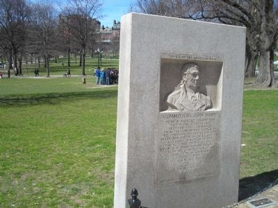 Marker on the Boston Common image. Click for full size.