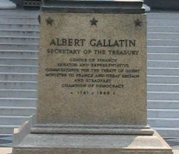 Albert Gallatin Marker image. Click for full size.