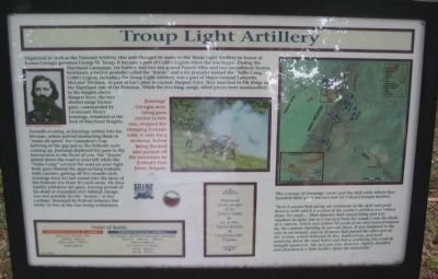 Troup Light Artillery Marker image. Click for full size.