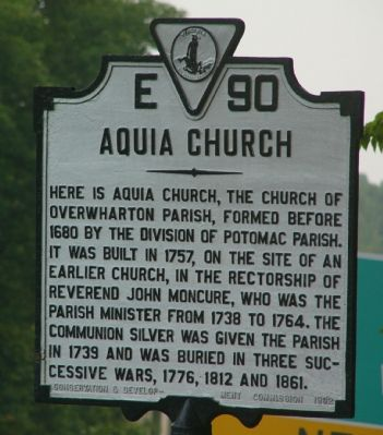 Aquia Church Marker image. Click for full size.