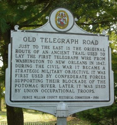 Old Telegraph Road Marker image. Click for full size.