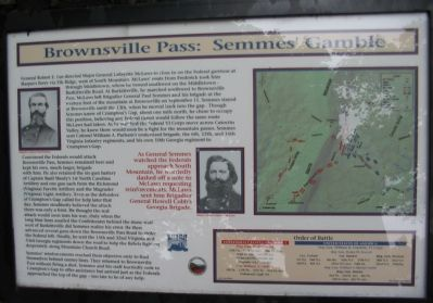 Brownsville Pass: Semmes' Gamble Marker image. Click for full size.