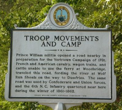 Troop Movements and Camp Marker image. Click for full size.