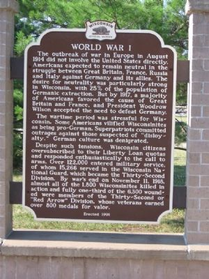 World War I Marker image. Click for full size.