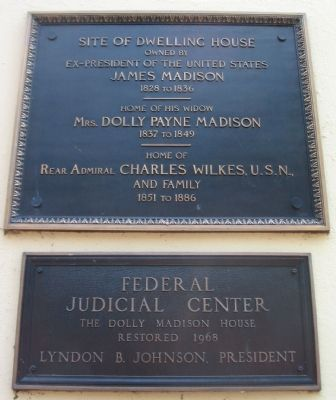 The Dolly Madison House Marker image. Click for full size.