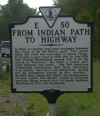 From Indian Path to Highway Marker image. Click for full size.