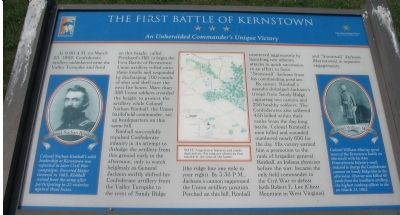 The First Battle of Kernstown Marker image. Click for full size.