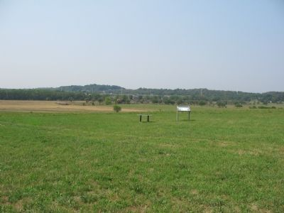 Looking West past the Marker on Pritchard Hill image. Click for full size.