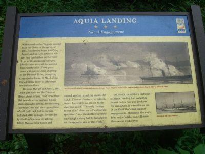Aquia Landing - Naval Engagement Marker image. Click for full size.