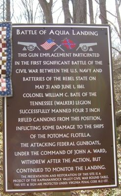 Battle of Aquia Landing Marker image. Click for full size.