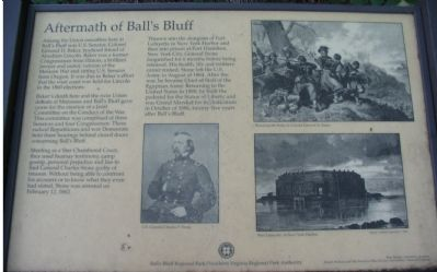 The Old Aftermath of Ball's Bluff Marker image. Click for full size.
