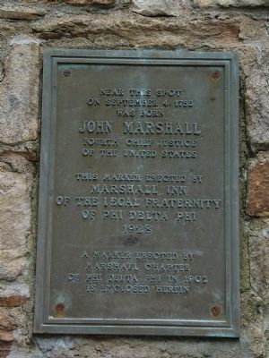 John Marshall Birthplace Marker image. Click for full size.