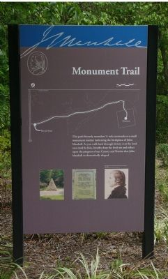 Informational Sign at Entrance to Monument Trail image. Click for full size.