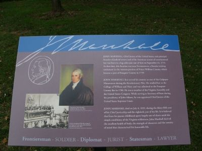 John Marshall Birthplace Park Marker image. Click for full size.