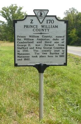 Fauquier County / Prince William County Marker image. Click for full size.