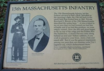 The Old 15th Massachusetts Infantry Marker image, Touch for more information