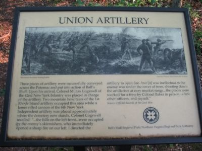 The Old Union Artillery Marker image. Click for full size.