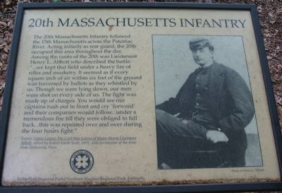 The Old 20th Massachusetts Infantry Marker image. Click for full size.