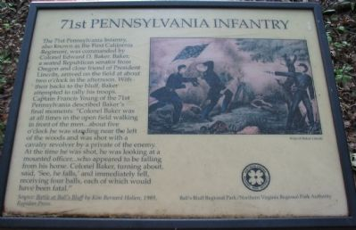 The Old 71st Pennsylvania Infantry Marker image. Click for full size.