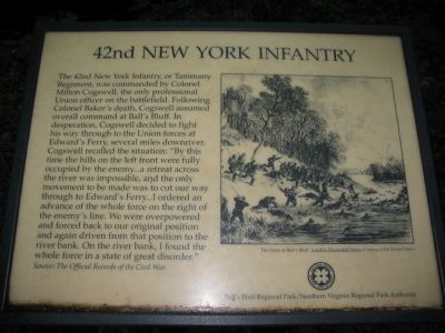 The Old 42nd New York Infantry Marker image. Click for full size.