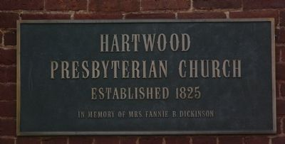 Hartwood Presbyterian Church Plaque image. Click for full size.
