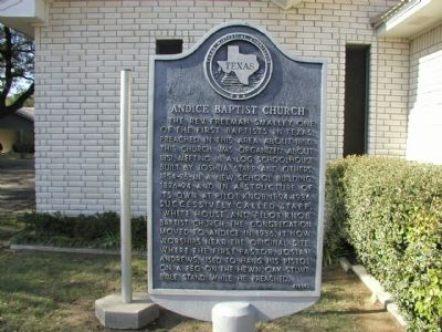 Andice Baptist Church Marker image. Click for full size.