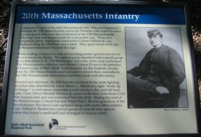 20th Massachusetts Infantry Marker image. Click for full size.