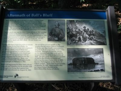 Aftermath of Ball's Bluff Marker image. Click for full size.