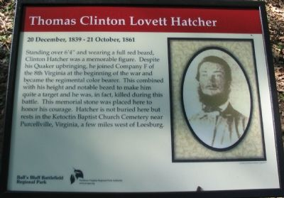 Thomas Clinton Lovett Hatcher Marker image. Click for full size.