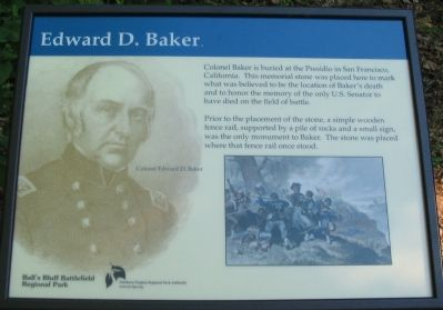 Edward D. Baker Marker image. Click for full size.