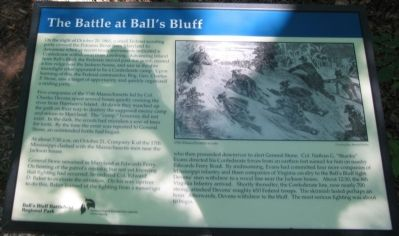 The Battle at Ball's Bluff Marker image. Click for full size.