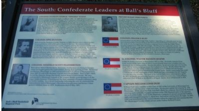 The South - Confederate Leaders at Ball's Bluff Marker image. Click for full size.