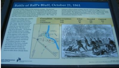 Battle of Ball's Bluff, October 21, 1861 Marker image. Click for full size.
