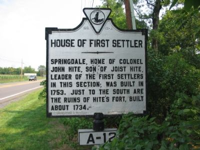 House of First Settler Marker image. Click for full size.