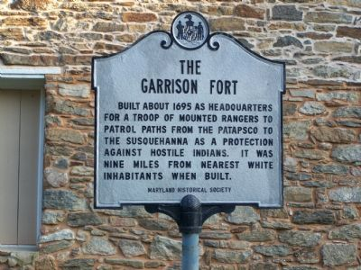 The Garrison Fort Marker image. Click for full size.